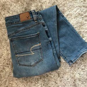 American Eagle Skinny Jeans Lightwash Size 10 Reg